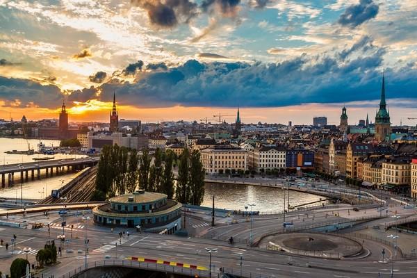 Stockholm, sunset