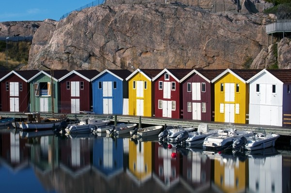 Fisherman houses in Sweden