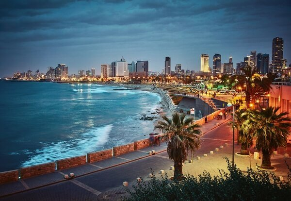 Sunset in Tel Aviv