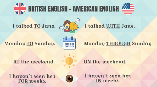 gramatical differences in british and american english