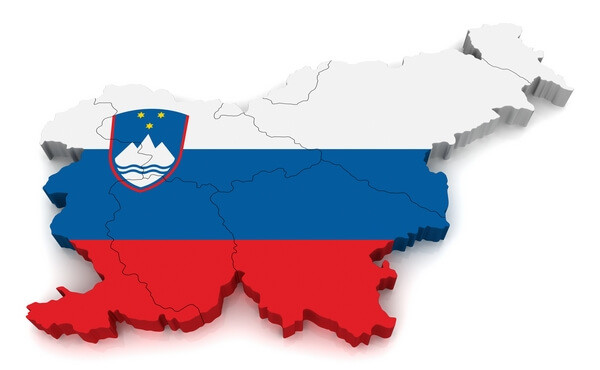 Map and flag of Slovenia