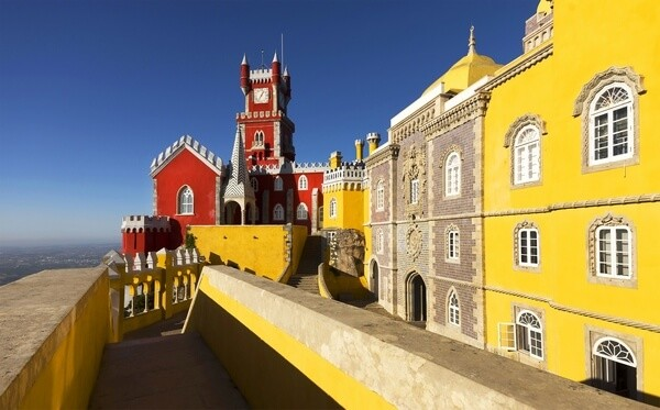Colorful palace in the Sintra town