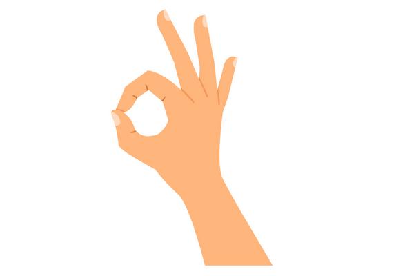 OK gesture