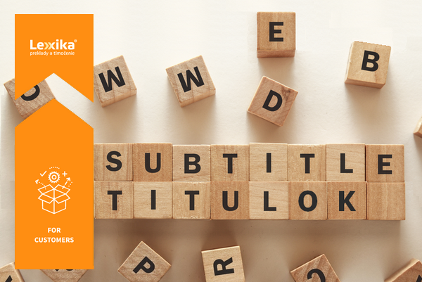 "The word ""subtitle"" made of wooden blocks"