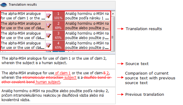 Exapmle of using a translation memory