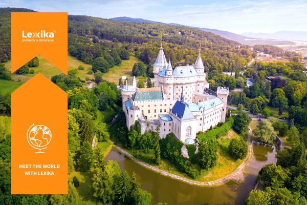 Bojnice castle from a bird´s eye view