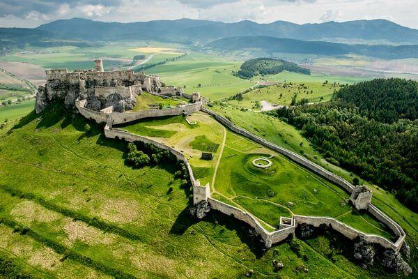 Spiš castle from a bird's-eye view