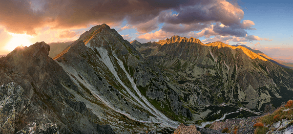 Panorama of High Tatras