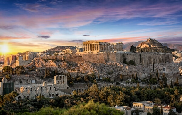 photo of Acropolis of Athens during sunset