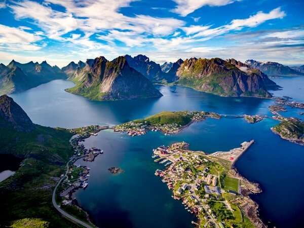 panoramatic view of Lofoty, Norway