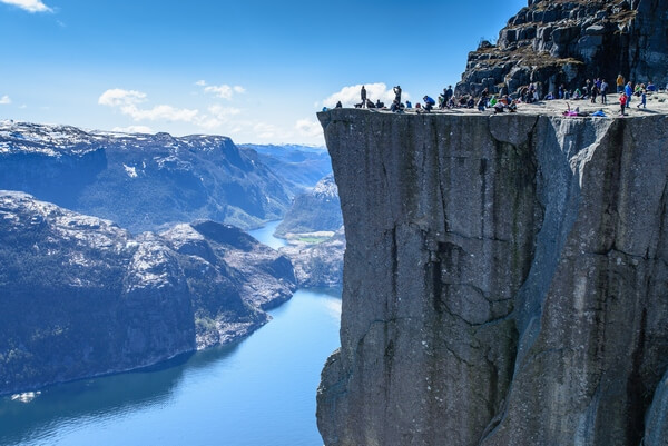 Preikestolen rock in Norway