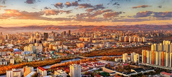 panoramatic view of Ulaanbaatar