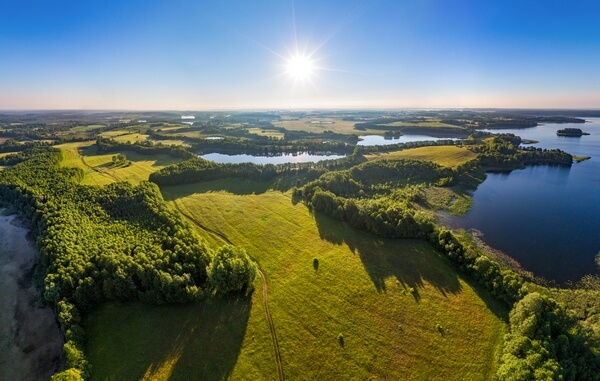 river and forests of belarusian national park