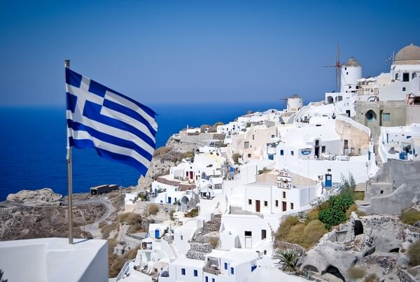 photo of a greek flag