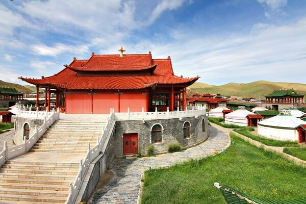 the historical camp in Ulaanbaatar