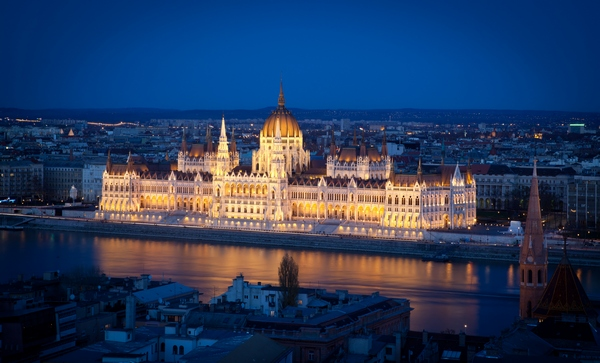 Parliament in Budapest, Hungary - night view