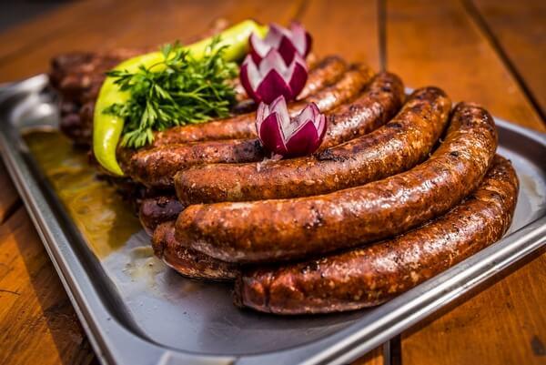 traditional hungarian food - Csabai sausage