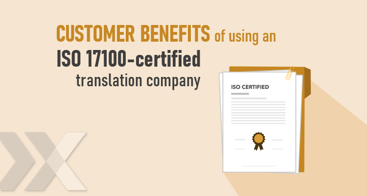 ISO 17100 and ISO 9001 certification, translation company