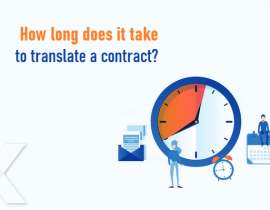 How long does it take to translate a contract