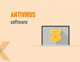 Antivíius software, online security