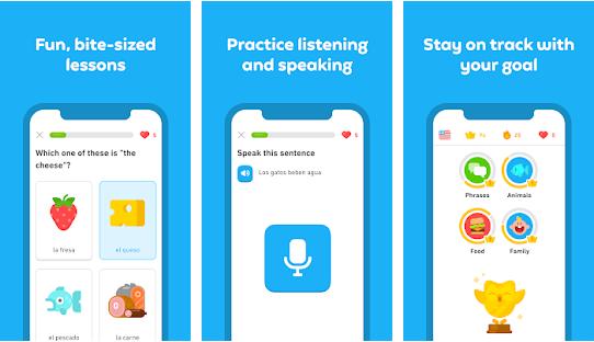 duolingo smartphone app preview