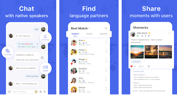 Hello Talk smartphone app preview