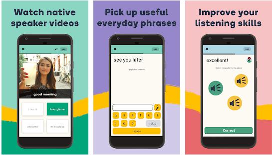 Memrise smartphone app preview