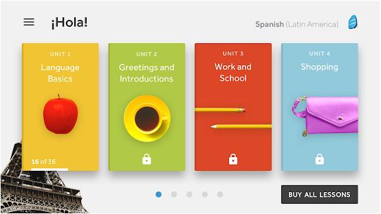 Rosetta Stone smartphone app preview